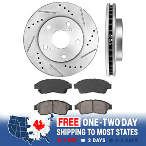 Front Drill Slot Brake Rotors Ceramic Pads For 1992 1993 1994 1999 Camry