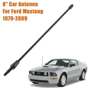 For Ford Mustang 1979 2009 8 Billet Black Stealth Short Radio Antenna V6 V8 Gt