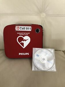 Heart Start Onsite Philips Defibrillator Aed Case W dvd And Scissors