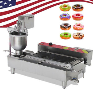 Usa 6kw Automatic Electric Donut Making Machine Donut Fryer With 3 Size Outlet