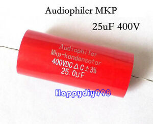 1pc 4pc 10pc Audiophiler Mkp Audio Capacitor 400v 25uf