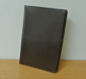 Brown Italian Leather Franklin Covey Classic Compass Wirebound Planner Cover