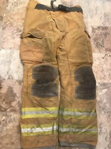 Lion Janesville Firefighter Turnout Pants 38 X 36 With Belt Halloween Costume