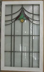 Large Old English Leaded Stained Glass Window Gorgeous Abstract Sweep 21 X 35