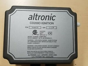 Altronic Cd200d Ignition For Large Industrial Diesel Engine P n 791090 122