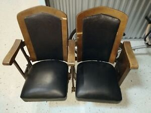 Vintage Theater Seats Cast Iron And Wood Pick Up Only Near O Hare