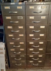 Vintage Steel Age 8 Drawer Steel File Cabinets 2