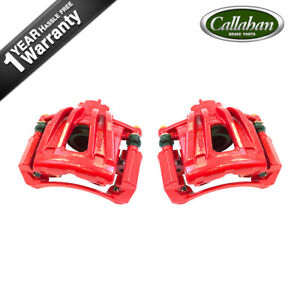 Front Red Brake Calipers For 2002 2003 2004 2005 2006 2007 Jeep Liberty