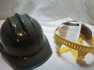 Bullard Hard Hat Harness New Olive Green Ansi Class A B Construction Electrical