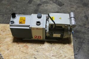 Working Edwards 28 E2m28 Rotary Vane Dual Stage Vacuum Pump