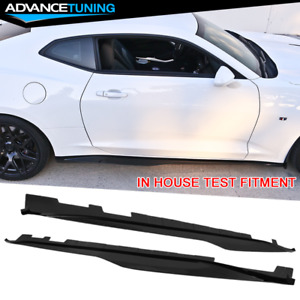 Fits 16 20 Chevy Camaro Zl1 Style Gloss Black Side Skirts Pp Pair Set