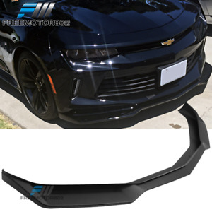 Fits 16 18 Chevy Camaro V6 Coupe Convertible Zl1 Style Front Bumper Lip Pp