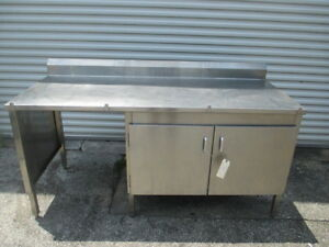 72 Stainless Steel Prep Work Table Bakery Kitchen Counter Dry Storage Cabinet