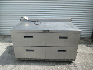 Delfield Std4460n a12 4 Drawer Counter Cooler Refrigerated Chef Base Prep Table
