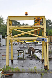 Traveling Gantry Crane With Motorized Trolley 3 Ton Harrington Hoist
