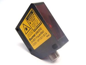 Baumer Electric Ozdm 16p1001 s14 Diffuse Contrast Sensor Pulsed Red Laser Diode