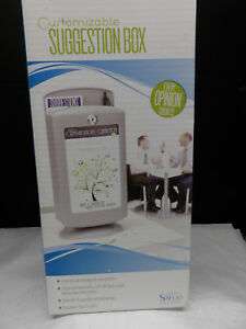 Safco Customizable Suggestion Box With Lock 25 X Card 14 5 Height