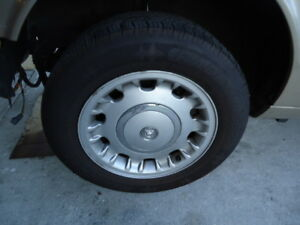 16x7 Aluminum Wheels Set Of 4 With Good Tires 1998 2002 Jaguar Xj8