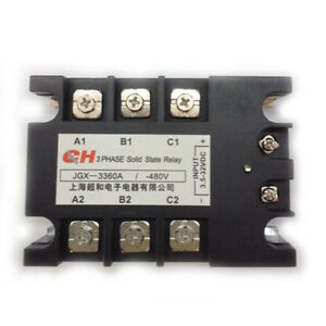 Jgx 3360a 3 5 32 Vdc Input 480vac 60 Amp Output Dc ac 3 Phase Solid State Relay