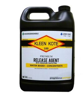 Kleen Kote Water Based Industrial Concrete Release Anti Corrosion Protect 1 Gal
