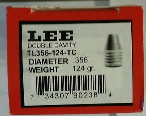 Lee 2-Cav Bullet Mold TL356-124-TC--#90238-TUMBLE LUBED 124gr.9mm TRUNCATED CONE