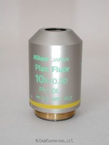 Nikon Microscope Objective Plan Fluor 10x Ph1