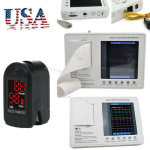 Lcd Color 7 Digital 3 channel Electrocardiograph System Ecg Ekg Machine Gift