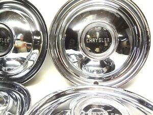 Chrysler 1950 Set 4 Wheel Covers Hubcaps Windsor New Yorker Town And Country