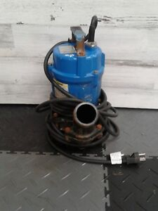 Used Tsurumi Hs2 4s 62 Submersible 2 Sump Pumps Trash Water Waste Dewatering