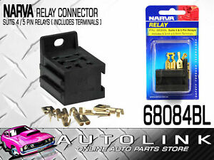 Narva 68084bl Relay Base Connector Suits 4 Or 5 Pin Relays Inc Connectors X10