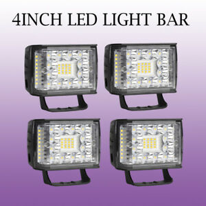 4pcs 4inch 992w Led Pods Cube Work Light Bar Offroad Truck Side Shooter Jeep Suv