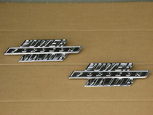 2 Metal Fordson Side Hood Emblems For Ford Power Major