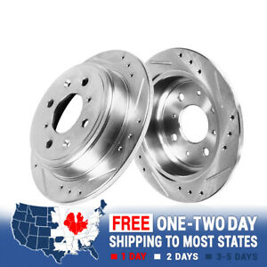 For Honda Accord Acura Cl Rear Drilled And Slotted Plated Brake Rotors