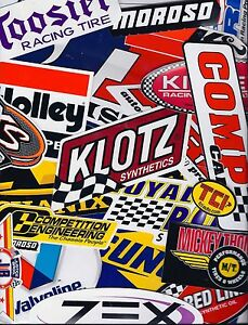 Grab Bag Set Lot Of 25 Assorted Racing Decals Stickers Nhra Us Free Shipping