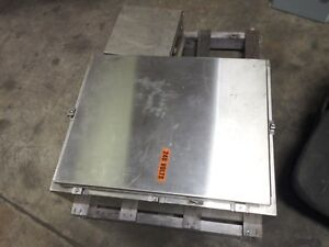 Hoffman Stainless Electrical Boxes Box Junction 12x12x6 28x22x8