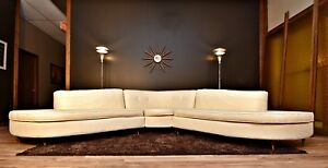 Stunning Fully Restored Custom Mid Century 3pc Sofa Sectional 1950 S