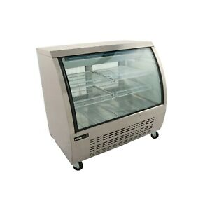 Curved Glass 48 Refrigerated Deli Case Stainless Steel