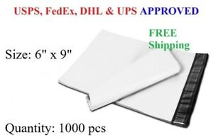 1000 6x9 Poly Mailer Plastic Envelope Shipping Mailing Bag 2 3 Mil Wholesale