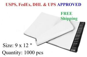 1000 Pcs 9 X 12 Poly Mailer Plastic Envelope Shipping Bag 2 3 Mil Wholesale