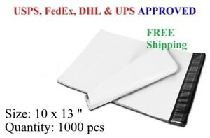 1000 Pcs 10 X 13 Poly Mailer Plastic Envelope Shipping Bag 2 3 Mil Wholesale