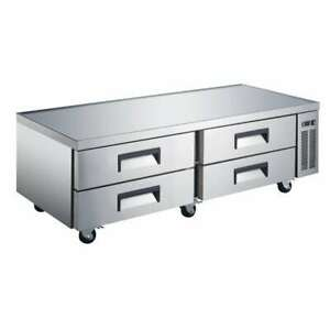 Peakcold 72 4 Drawer Refrigerated Chef Base Commercial Kitchen Equipment Stand