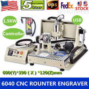 Usb 4axis 1500w Vfd 6040 Engraver Cnc Router Engraving Machine remote Controller