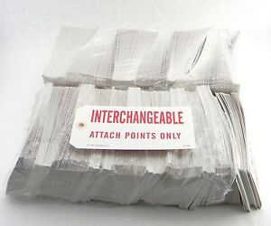4500 New Tags Sticker Interchangeable Attach Points Only Size 6 1 4 X 3 2 8
