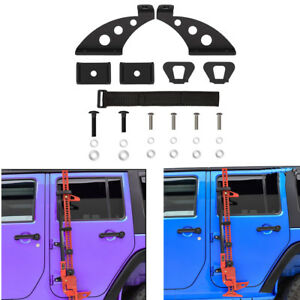 Off Road Hi Lift Farm Jack Mount Hood Bracket Accessories For Jeep Wrangler Jk B