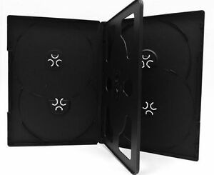 100 New Black Multi 6 Disc hold 6 Discs Cd Dvd Case Box Storage With Tray 14mm