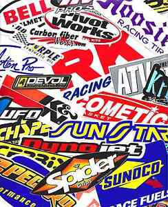 25 Lot Racing Decals Stickers Assortment Motorcycle Utv Powersport Snowmobile