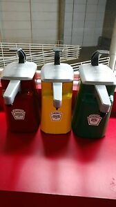 Heinz 1 5 Gallon Condiment Dispensers Commercial Aseptic Ketchup Mustard Relish