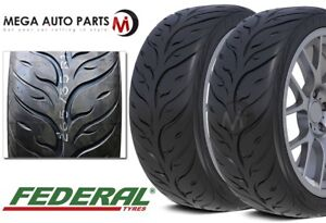 2 X Federal 595rs rr 255 40zr17 Ultra High Performance Tires