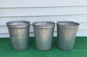 3 Aluminum Sap Buckets Maple Syrup Bucket Flowers Planters Nice Size L K