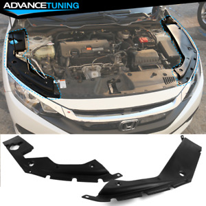 Fits 16 20 Honda Civic 10th Gen Engine Bay Side Panel Covers Long Version